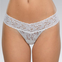 Hanky Panky Signature Lace Low Rise Thong Panty 4911 at BareNecessities.com