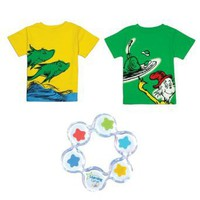 Bumkins Dr Seuss Short Sleeve Toddler Tee Shirt Set