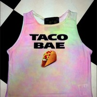 SWEET LORD O'MIGHTY! TACO BAE CROP TANK