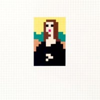 Low Res Mona Lisa by Space Invader at Robert Fontaine Gallery - Printed Editions   Printed Editions