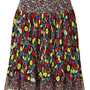 STYLEBOP.com | Multicolor Pleated Silk Skirt by ANNA SUI | the latest trends from the capitals of the world