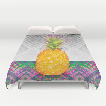 Pineapple Duvet Cover by Ornaart