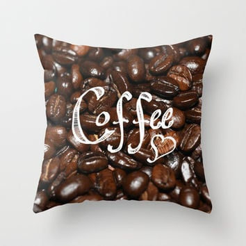 Coffee Love... Throw Pillow by Lisa Argyropoulos | Society6