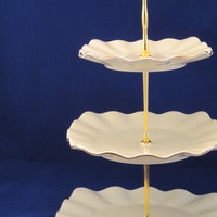 3 Tier Plate Stand - Serve: Cake Cookie Dessert Candy; Display Jewelry Ornaments Soaps Decor