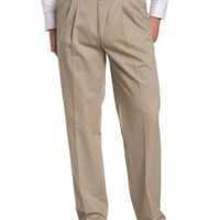 Savane Men's Pleated Wrinkle Free Twill