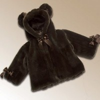 Bearington Baby Mink Couture Coat 12 to 24 Months