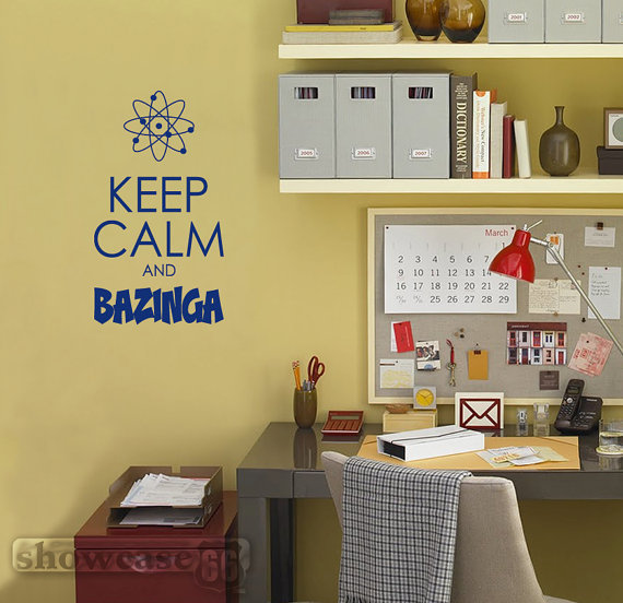 Keep Calm and Bazinga Vinyl Wall Art FREE Shipping by showcase66