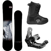 Camp Seven Valdez 2012 Men's Snowboard Package with Flow Vega Lace Boots and System Icon Bindings