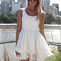 ELIXIR FRILL DRESS , DRESSES, TOPS, BOTTOMS, JACKETS & JUMPERS, ACCESSORIES, 50% OFF SALE, PRE ORDER, NEW ARRIVALS, PLAYSUIT, GIFT VOUCHER,,White Australia, Queensland, Brisbane