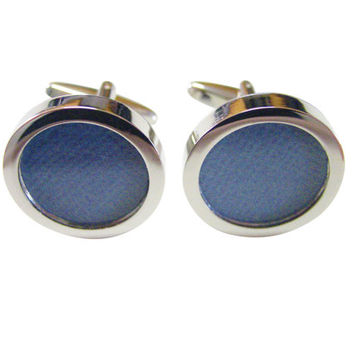 Textured Blue Colored Classic Cufflinks
