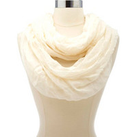 LIGHTWEIGHT LACE-TRIMMED INFINITY SCARF