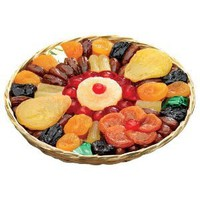 Broadway Basketeers Heart Healthy Floral Dried Fruit (Large) Gift Basket