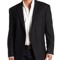 Tommy Hilfiger Men's Two Button Plaid Trim Fit Sport Coat