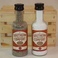 Southern Comfort Salt & Pepper Shaker, Upcycled Liquor Bottles