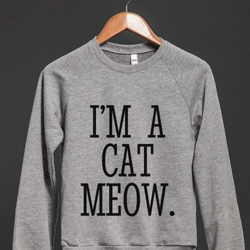 CAT PERSON I'M A CAT MEOW SWEATSHIRT BLACK ART ID870340