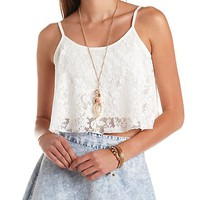 Lace Swing Crop Top