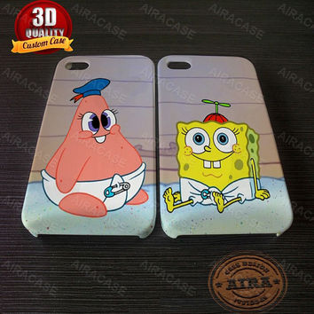 Spongebob and Pattrick Baby Case for Iphone 4, 4s, Iphone 5, 5s, Iphone 5c, Samsung Galaxy S3, S4, S5, Samsung Galaxy Note 2, Note 3.
