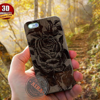 Rose Wooden Flower Case for Iphone 4, 4s, Iphone 5, 5s, Iphone 5c, Samsung Galaxy S3, S4, S5, Samsung Galaxy Note 2, Note 3.