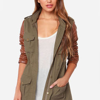 Lucca Couture Military Grade A Olive Green Jacket