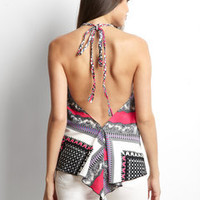 ideeli | DO & BE Printed Open Back Tie Neck Halter