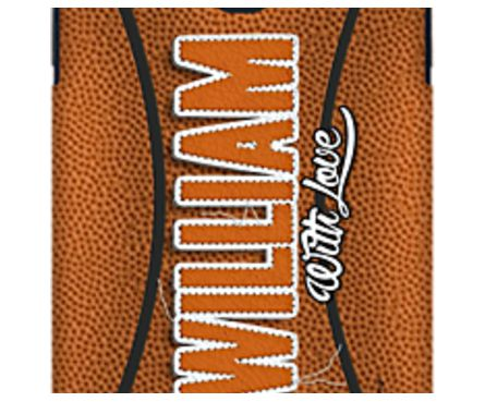 William Basketball Leather stitch effect