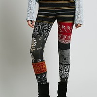 Free People Womens Patchwork Sweater Legging -