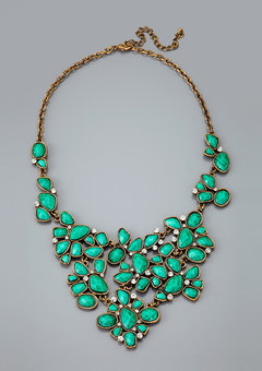 ideeli | CARA COUTURE Floral Bib Necklace