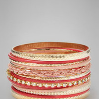 ideeli | CARA COUTURE Metal Link Bangle Set