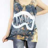MATADOR Indie Rock Music Shirt Tank Top Women by punkalife on Etsy