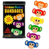 Rainbow Monkey Bandages - Whimsical  Unique Gift Ideas for the Coolest Gift Givers