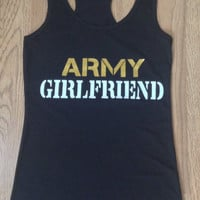Military Gilfriends/Wife Racer Back Tank Tops Or Tee Shirts