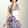ideeli | NINE WEST Caterpillar Halter Dress
