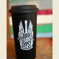 JG WORLD HQ TRAVEL COFFEE MUG - Junk GYpSy co.