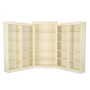 5 Piece Corner Bookcase Set - Corner Wood Bookcase Set