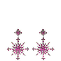 Ruby And Diamond Snowburst Earrings by Bochic - Moda Operandi