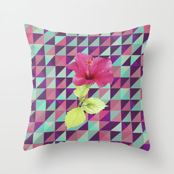 TOURIST Throw Pillow by Nika