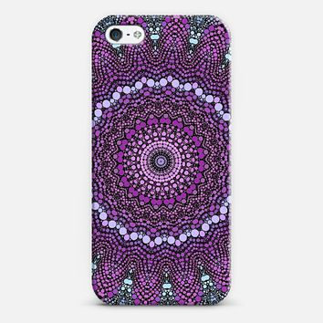 purple and blue kaleidoscope iPhone 5 case by Sylvia Cook | Casetify