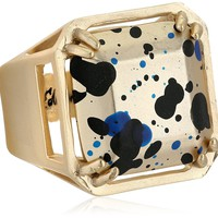 Sam Edelman Gold-Tone Paint Splatter Ring, Size 7