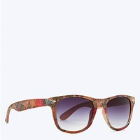 Floral Frosted Sunglasses