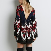 Free People Womens Free Falling Tapestry Print Dress -