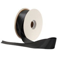 Offray Single Face Satin Craft  1 1/2-Inch by 50-Yard Ribbon Spool, Black