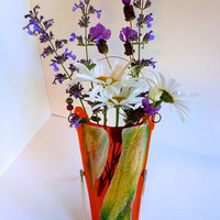 Glass Wall Pocket Vase by bprdesigns on Etsy