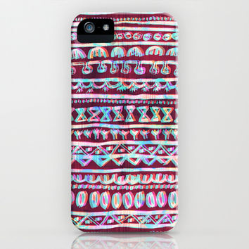 Hau'oli Stripe Multi iPhone & iPod Case by Schatzi Brown