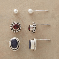 Sapphire Garnet & Sterling Earring Set | Robert Redford's Sundance Catalog