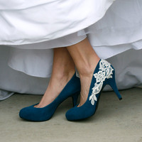 Teal Blue Wedding Heel
