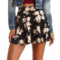 FLORAL PRINT HIGH-WAISTED SKATER SKIRT