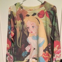 Forever 21 Alice in Wonderland Sweater