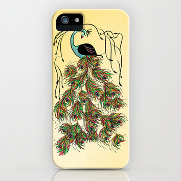 Vibrant Jungle Peacock iPhone & iPod Case by famenxt