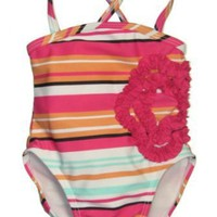 Multi-Stripe Girls Swim Suit by Goldbug