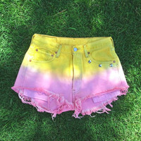 Pink Lemonade high waisted Levi's by WestCoastCuties on Etsy